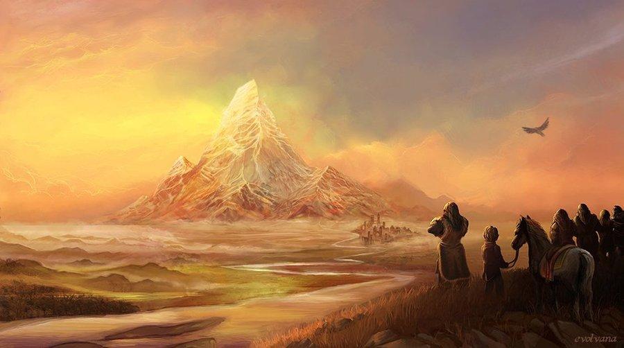 Erebor the lonely mountain by Evolvana 900x502
