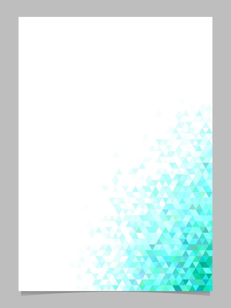 Abstract triangle brochure background template   polygonal 750x1000