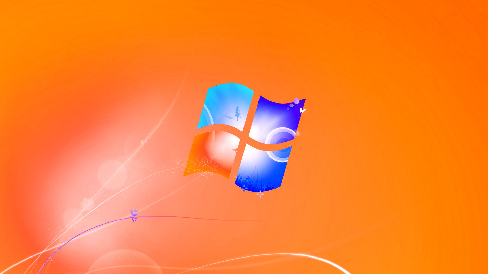 Download orange windows logo wallpaper HD wallpaper 1920x1080