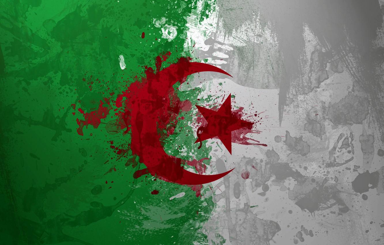 Wallpaper paint flag Algeria Algeria images for desktop 1332x850