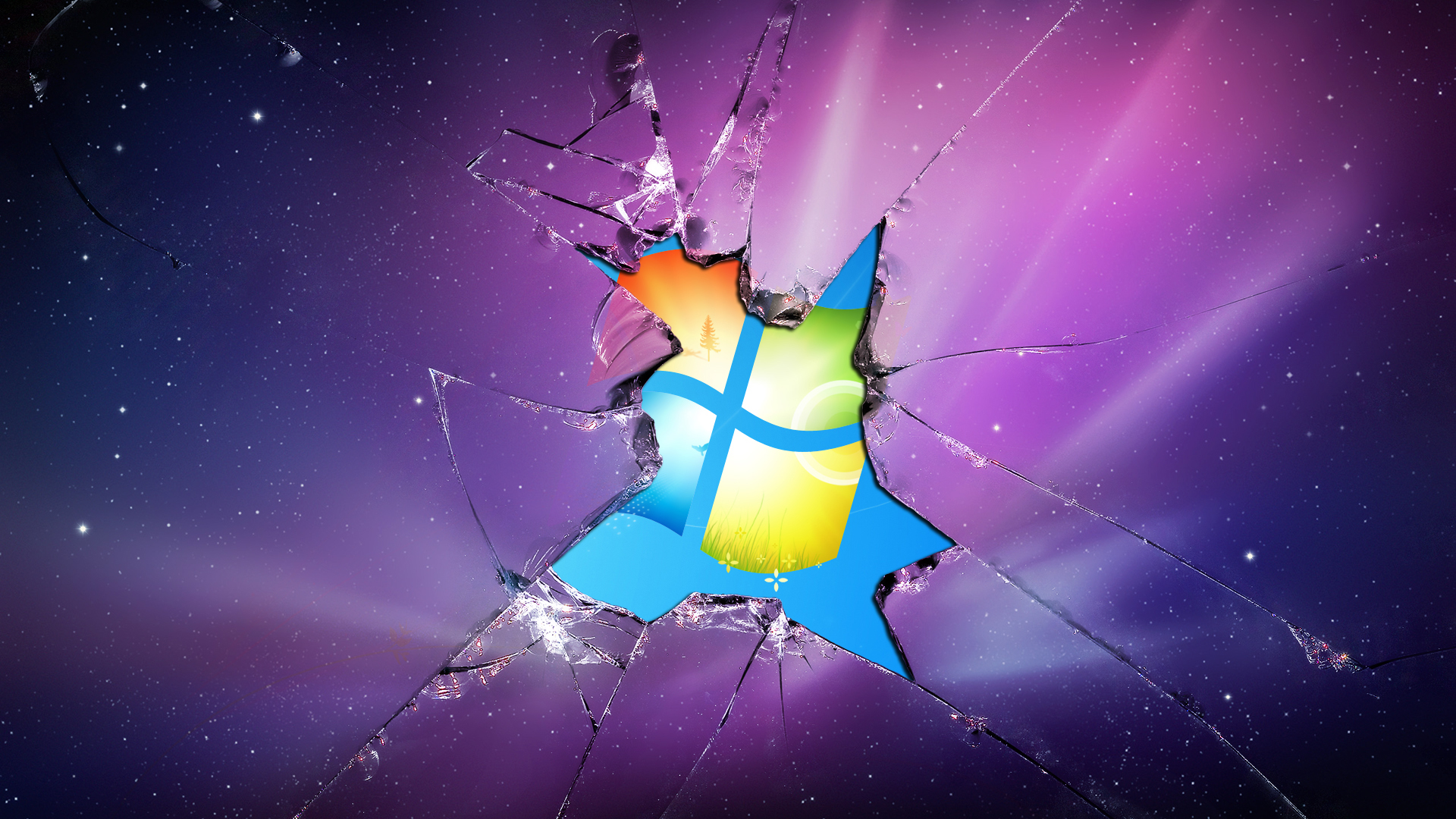 windows 7 cracked screen wallpaper - wallpapersafari