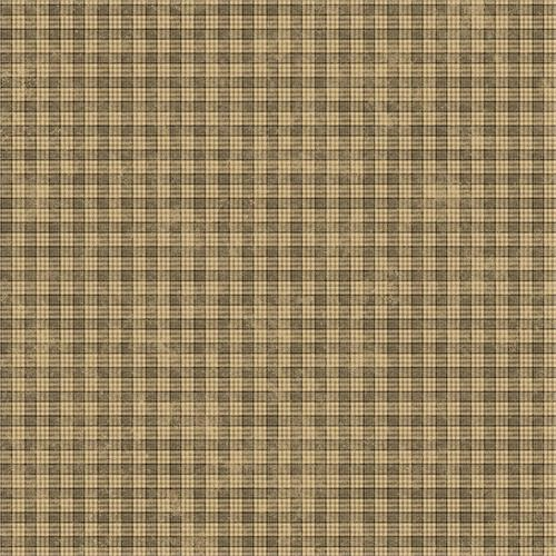 Black and Tan Cottage Plaid Wallpaper 500x500
