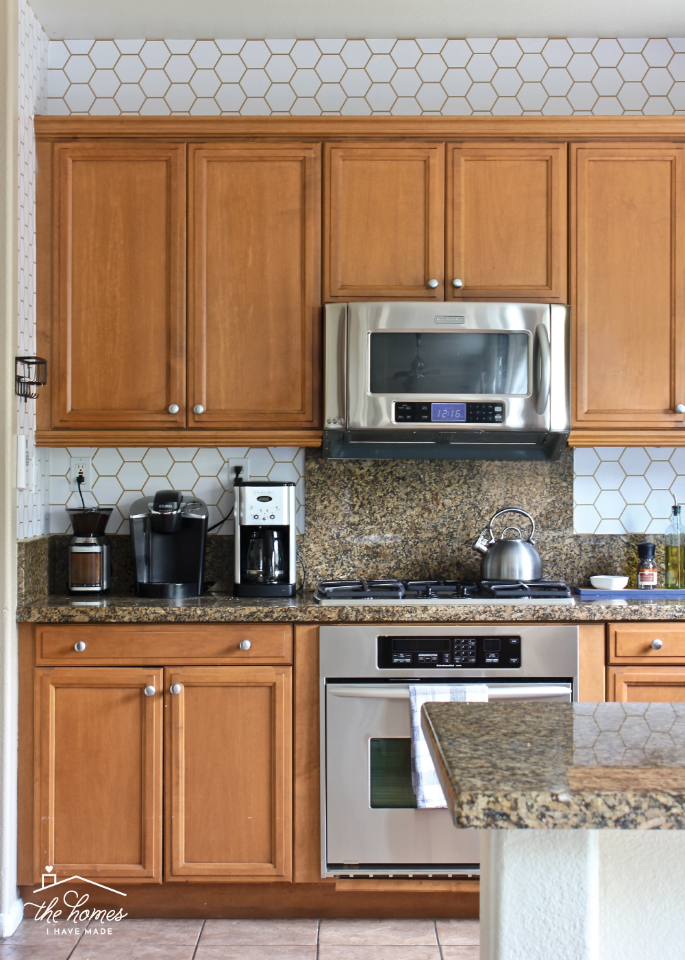 How to Wallpaper a Backsplash The Homes I Have Made 1000x1400