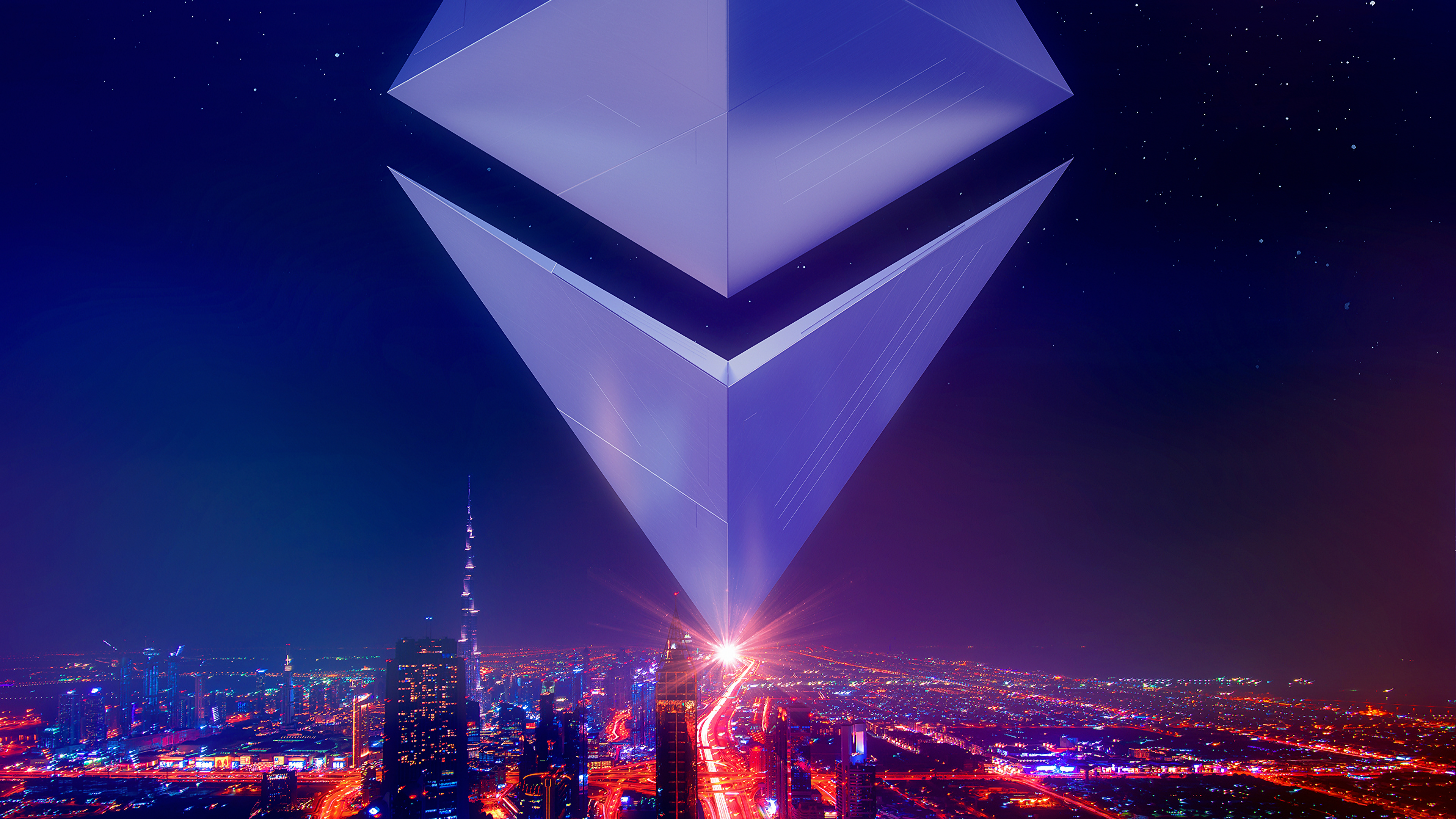 Ethereum Invasion Four 4k Ultra HD Wallpaper Background Image 3840x2160