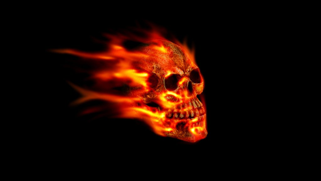 Flaming Skull by SpeedyScorpion 1024x578