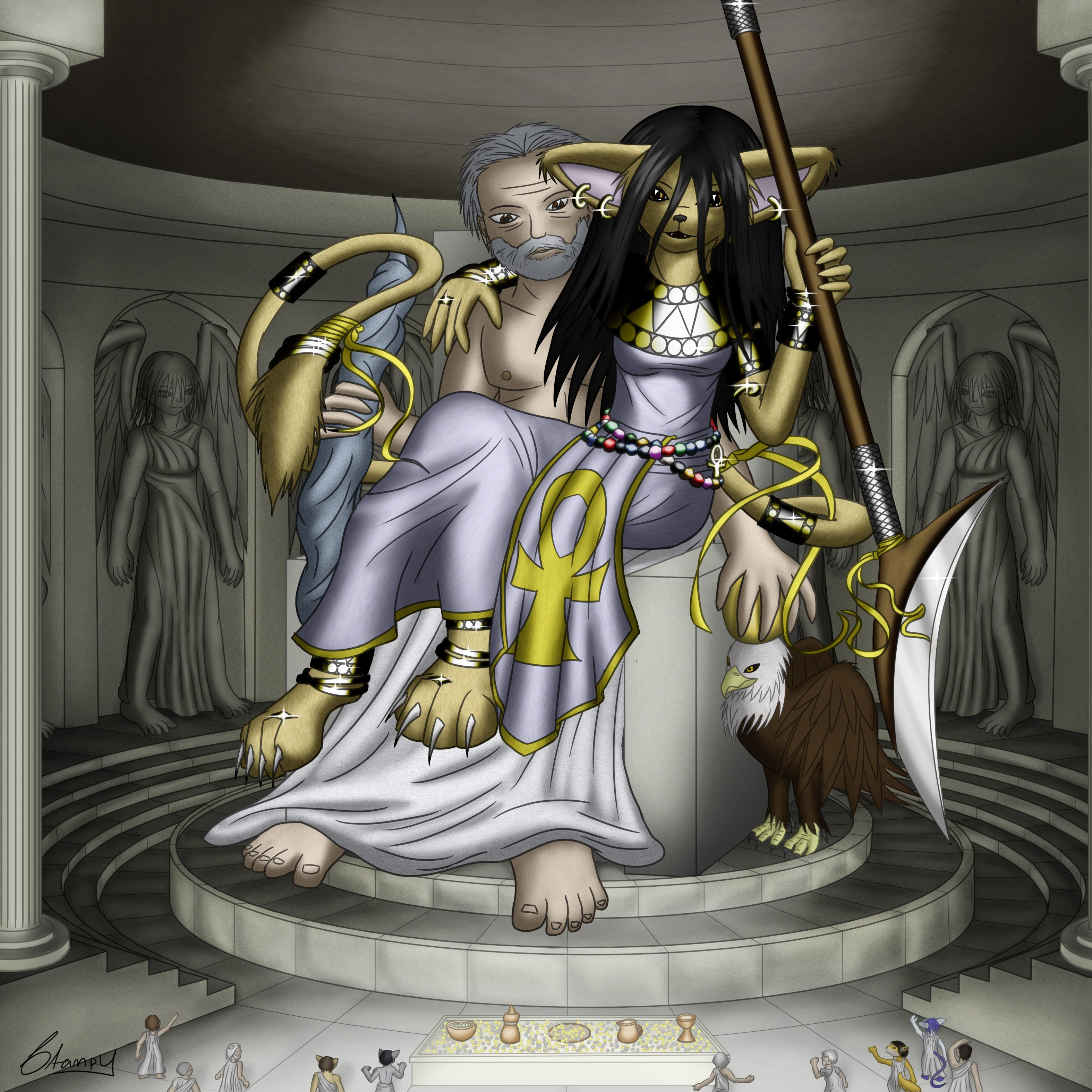 Statue of Zeus at Olympia by StampyDragon 3148x3148
