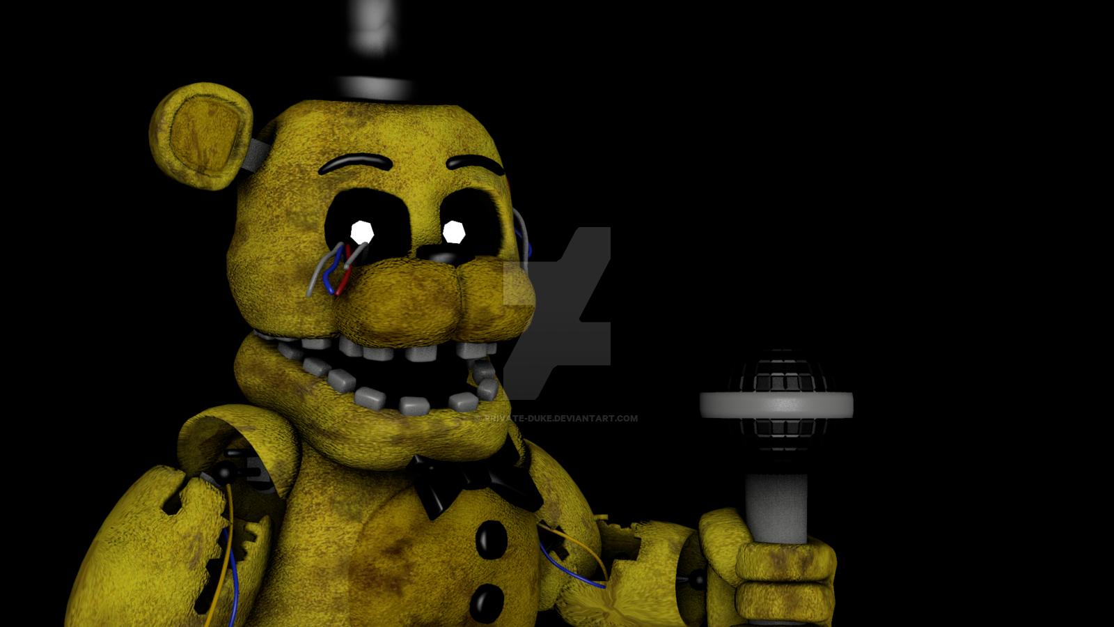 [SFM] Golden Freddy by Private Duke 1600x900