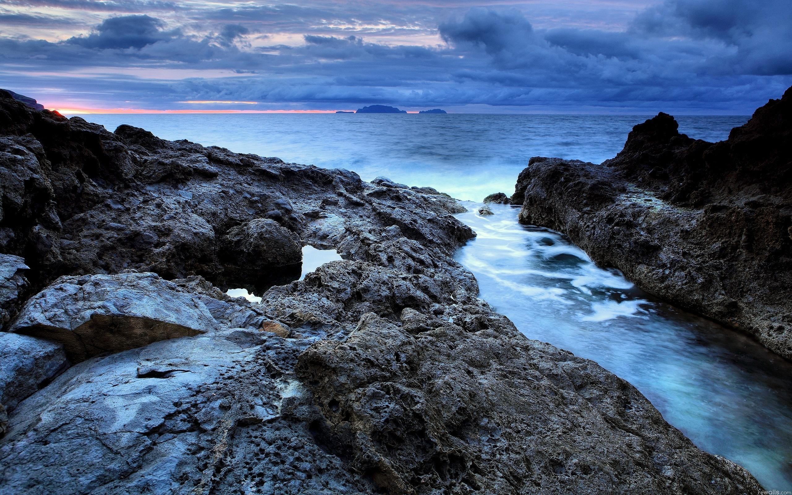 Sea Wallpaper water ocean river rock LACD landscape beauty 2560x1600