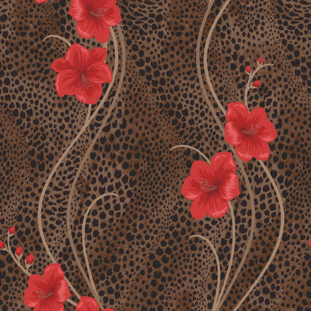 Wallpaper Chocolate Brown Red   Fine Decor from I love wallpaper UK 1000x1000