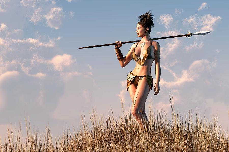 Cavewoman Digital Art by Kaylee Mason 900x599