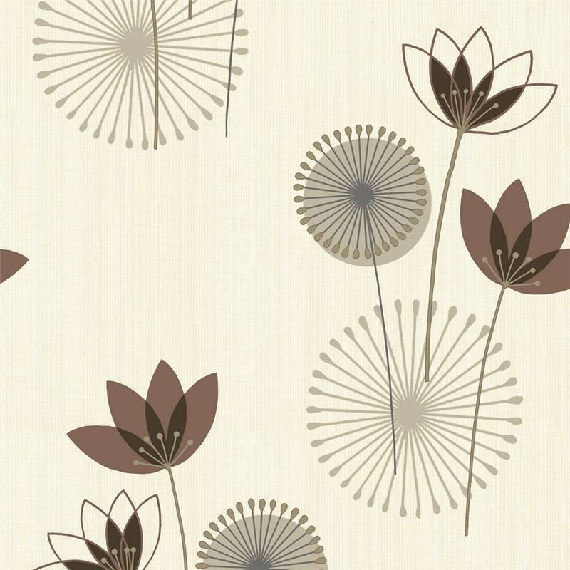 chocolate brown cream 75463 akina floral k2 holden decor wallpaper 800x800