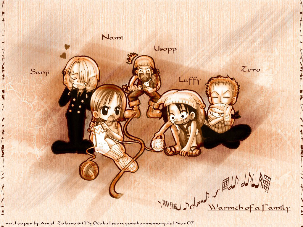 Chibi One Piece Crew Wallpaper   One Piece Anime Wallpaper 1024x768