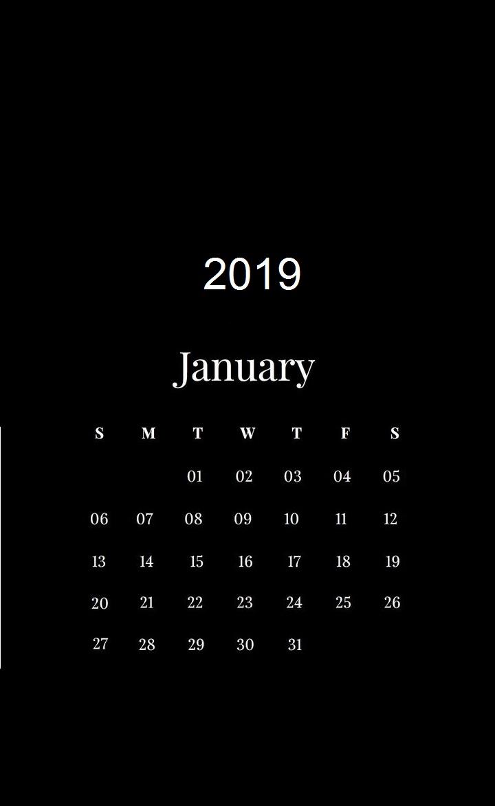 January 2019 HD Calendar Wallpapers Latest Calendar 720x1173