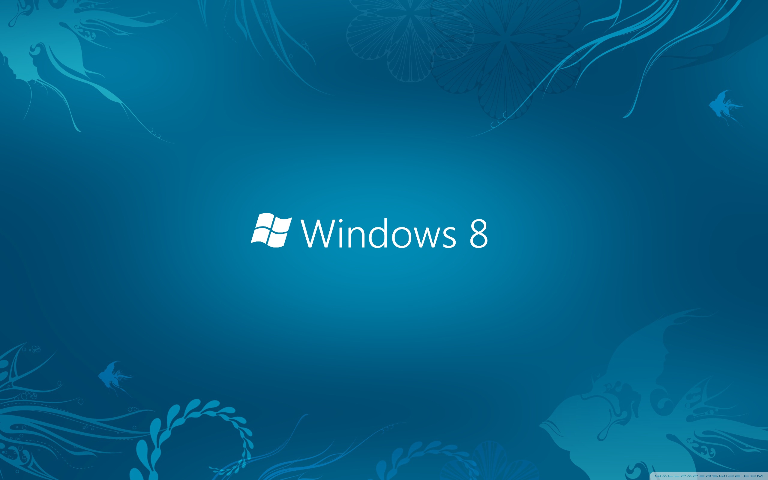 Windows 8 Blue 4K HD Desktop Wallpaper for 4K Ultra HD TV 2560x1600
