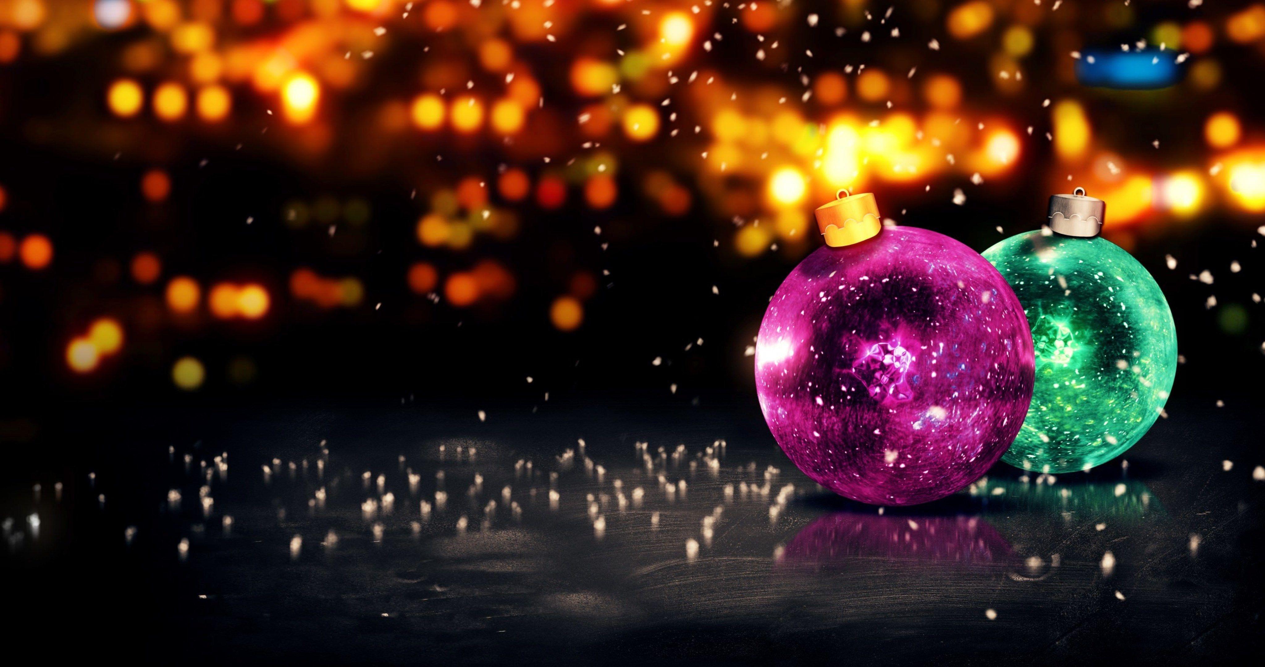 merry christmas balls wallpaper 4k ultra hd wallpaper Merry 4096x2160