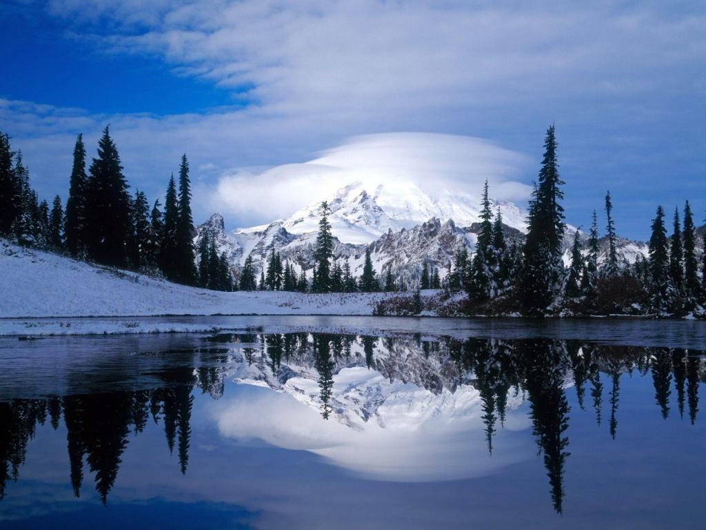 1024x768 Mount Rainier desktop PC and Mac wallpaper 1024x768