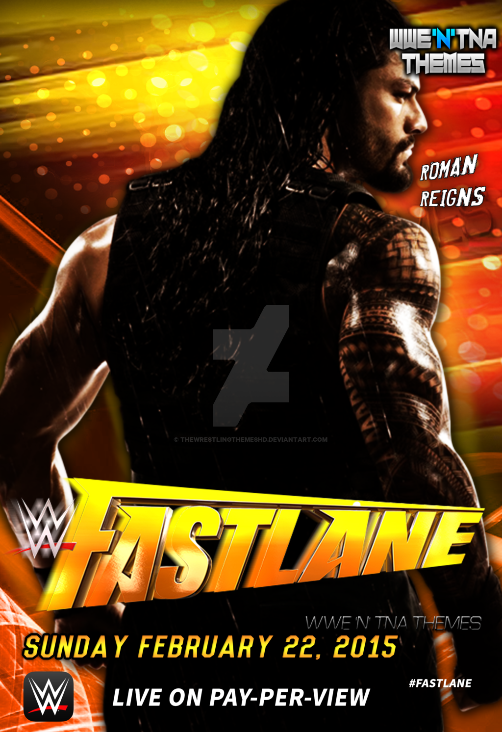 WWE Fast Lane 2nd Custom Poster HD by thewrestlingthemeshd on 1024x1493