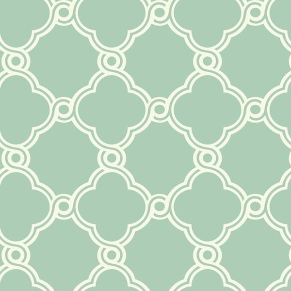 White with Green Open Trellis Wallpaper   Wall Sticker Outlet 600x600