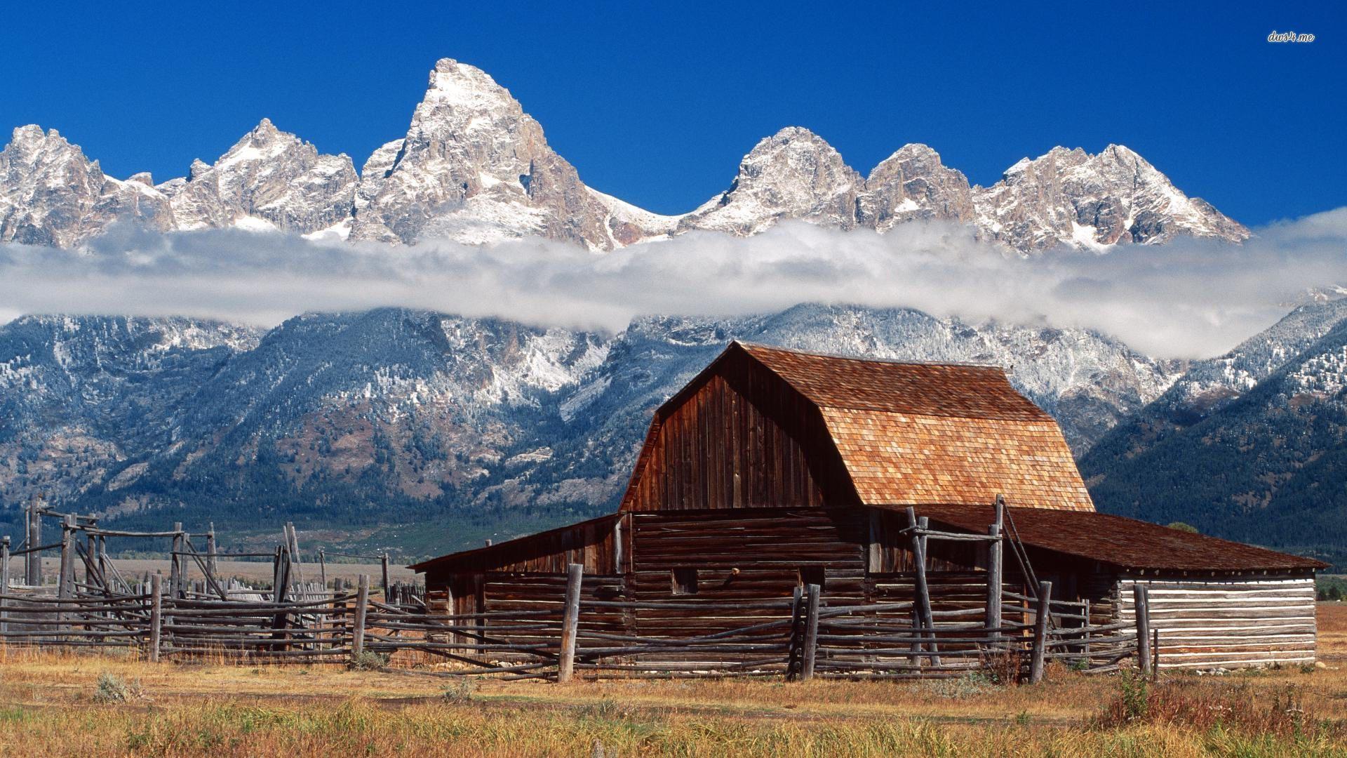 Teton Barn Jackson Hole Wyoming wallpapers HD   267312 1920x1080