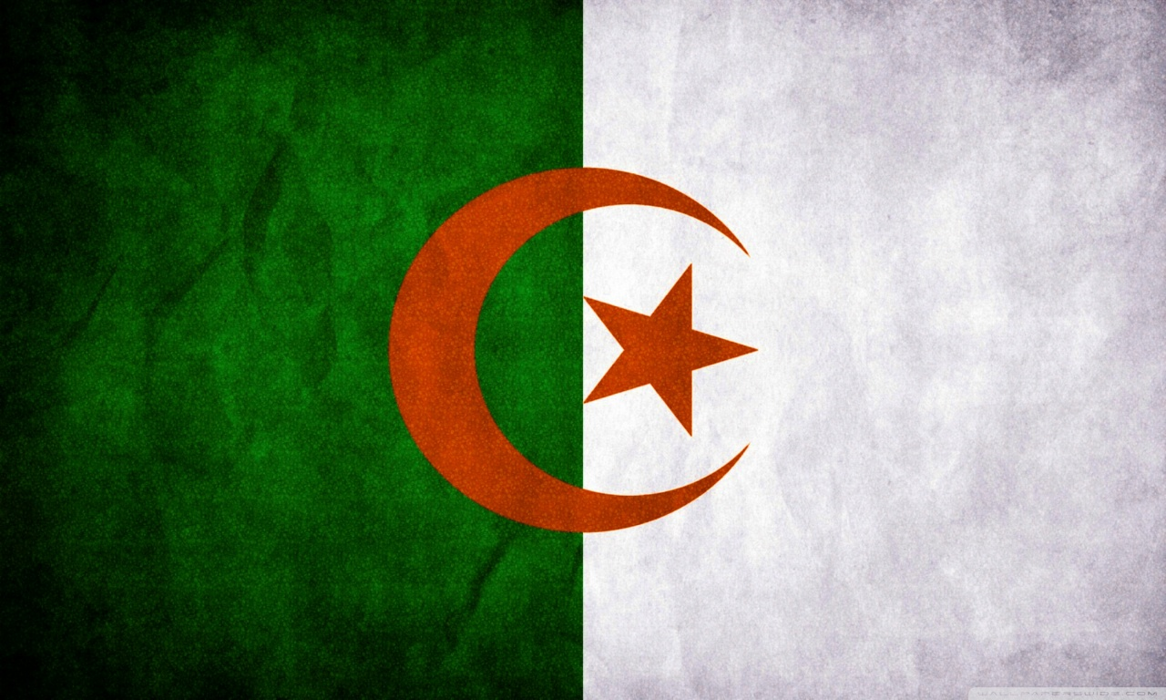 Algeria Flag 4K HD Desktop Wallpaper for 4K Ultra HD TV Dual 1280x768