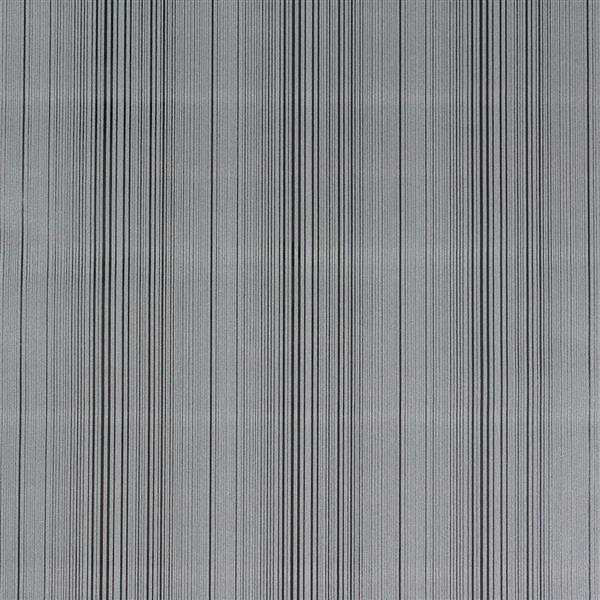 Bourgeois 2 Modern black and grey velvet stripe wallpaper 10m Roll 600x600