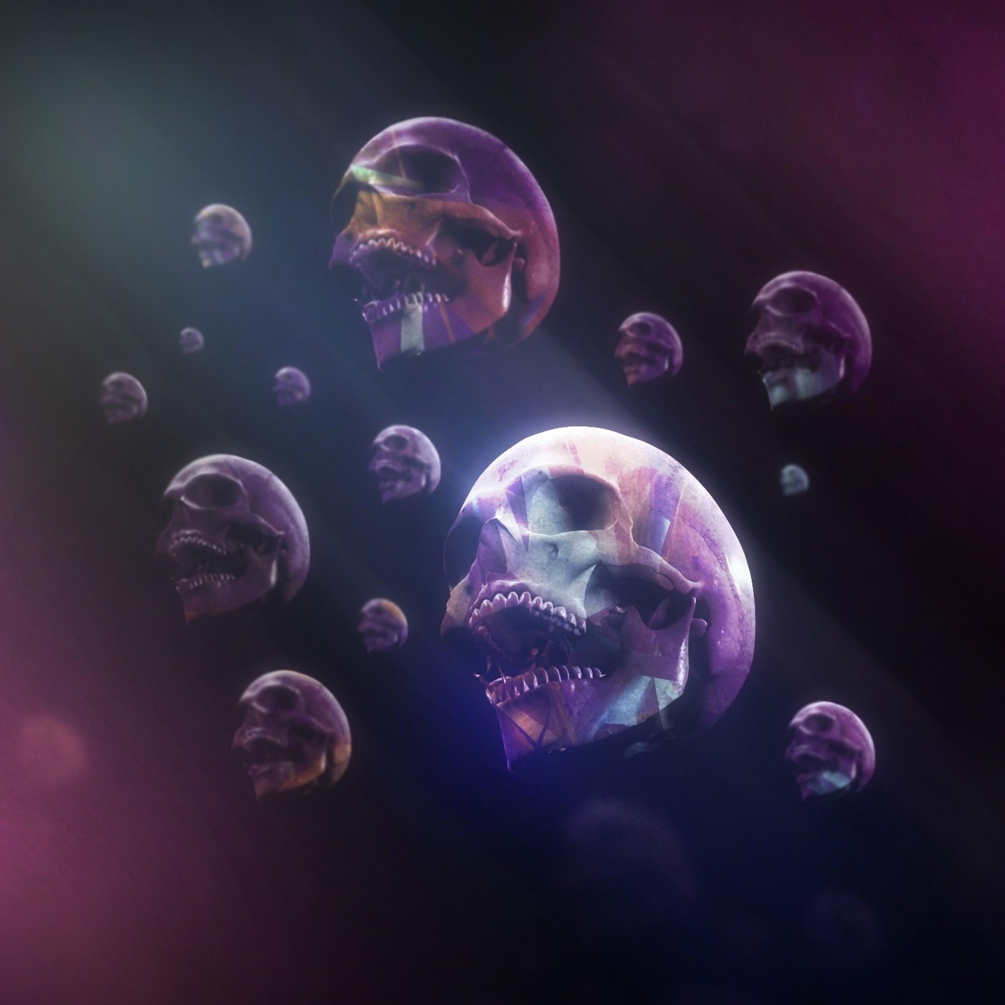 Purple Skull Wallpaper