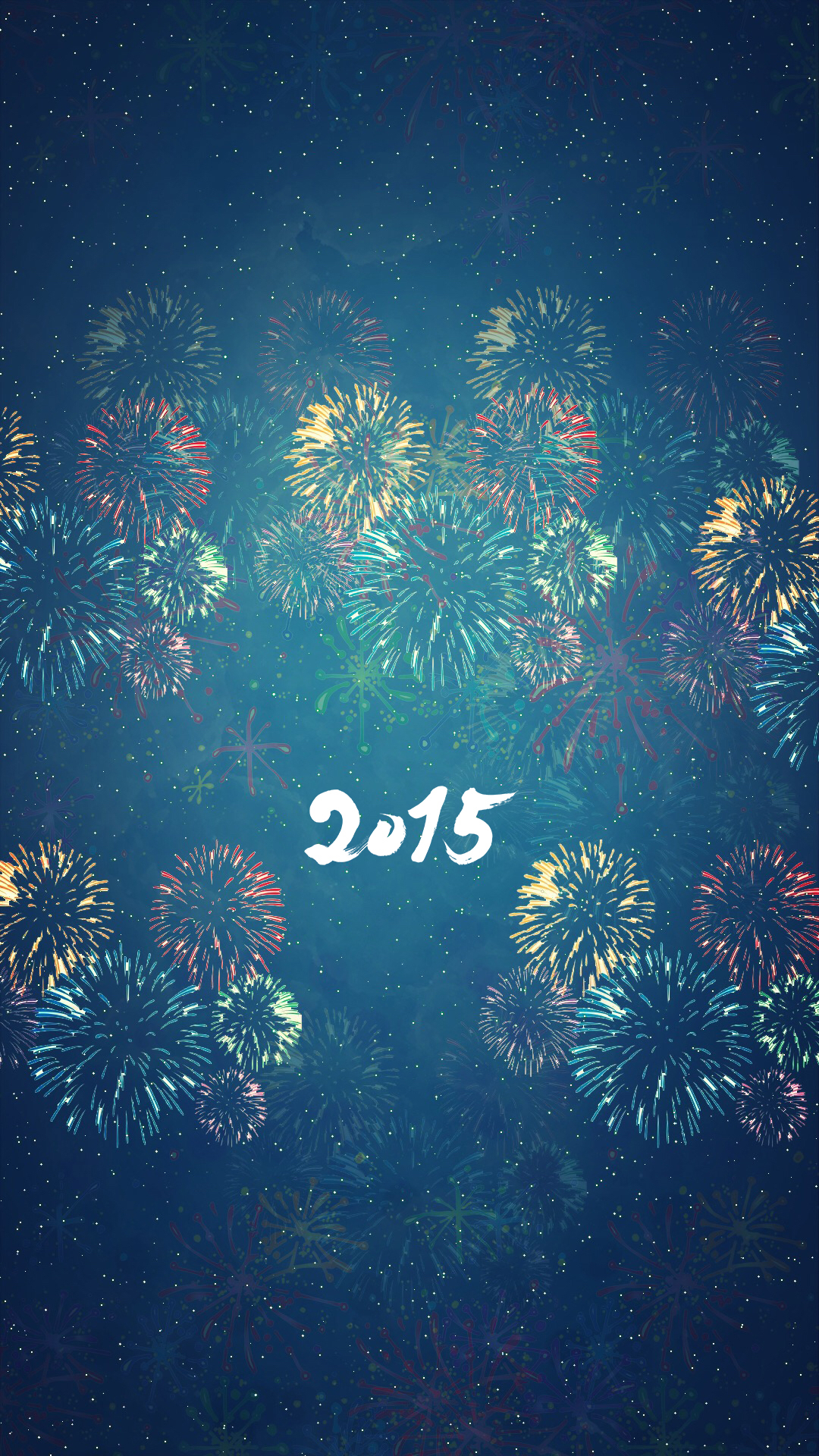 Happy new year 2015 wallpapers for iPhone and iPad 1080x1920