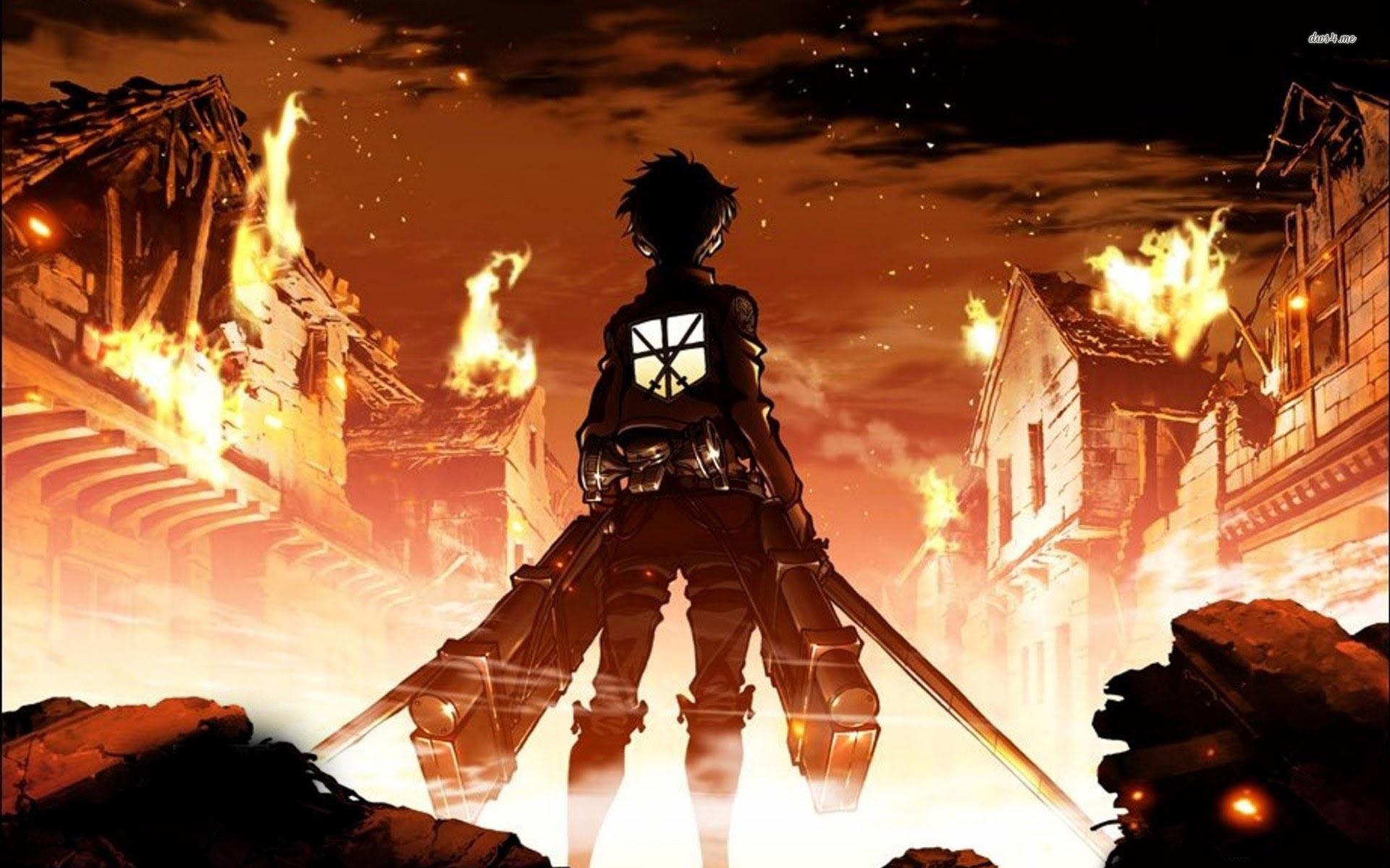 Attack on Titan Eren Jaeger HD Wallpaper   Bleeding Cool Comic Book 1920x1200