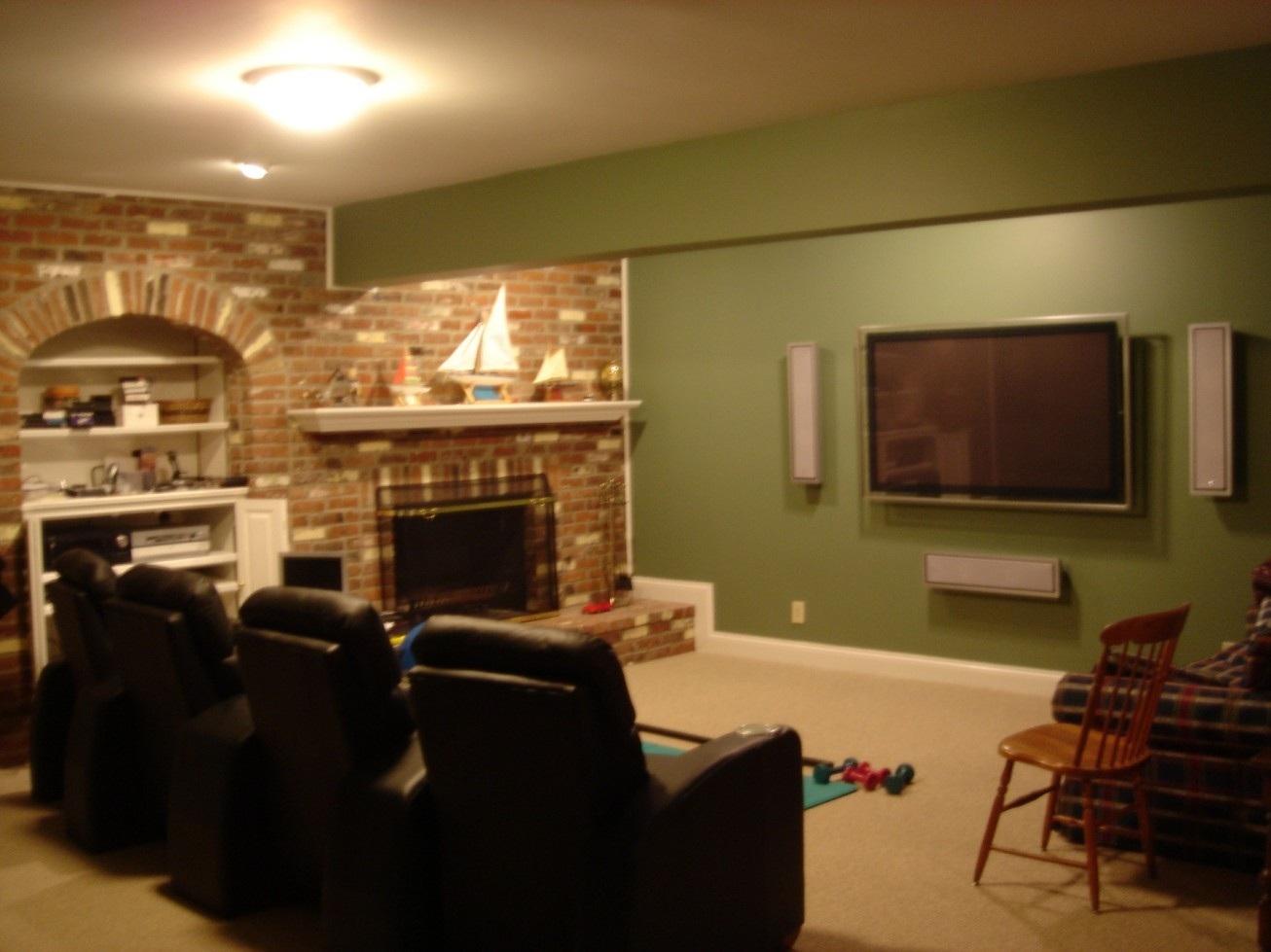 Home Theatre Design Ideas With Plasma Tv Sound System Black Home 1306x979