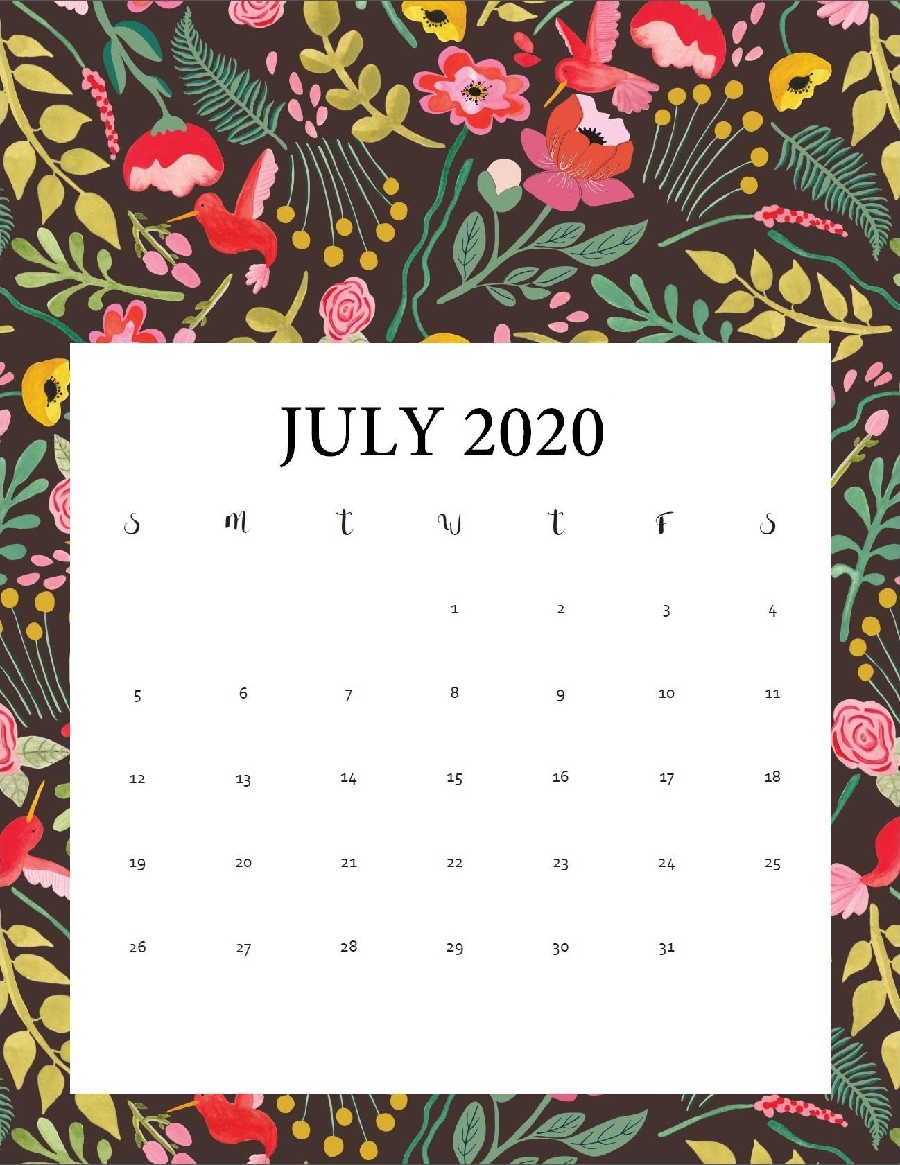 Printable 2020 Calendar Calendar 2020 1298x1681