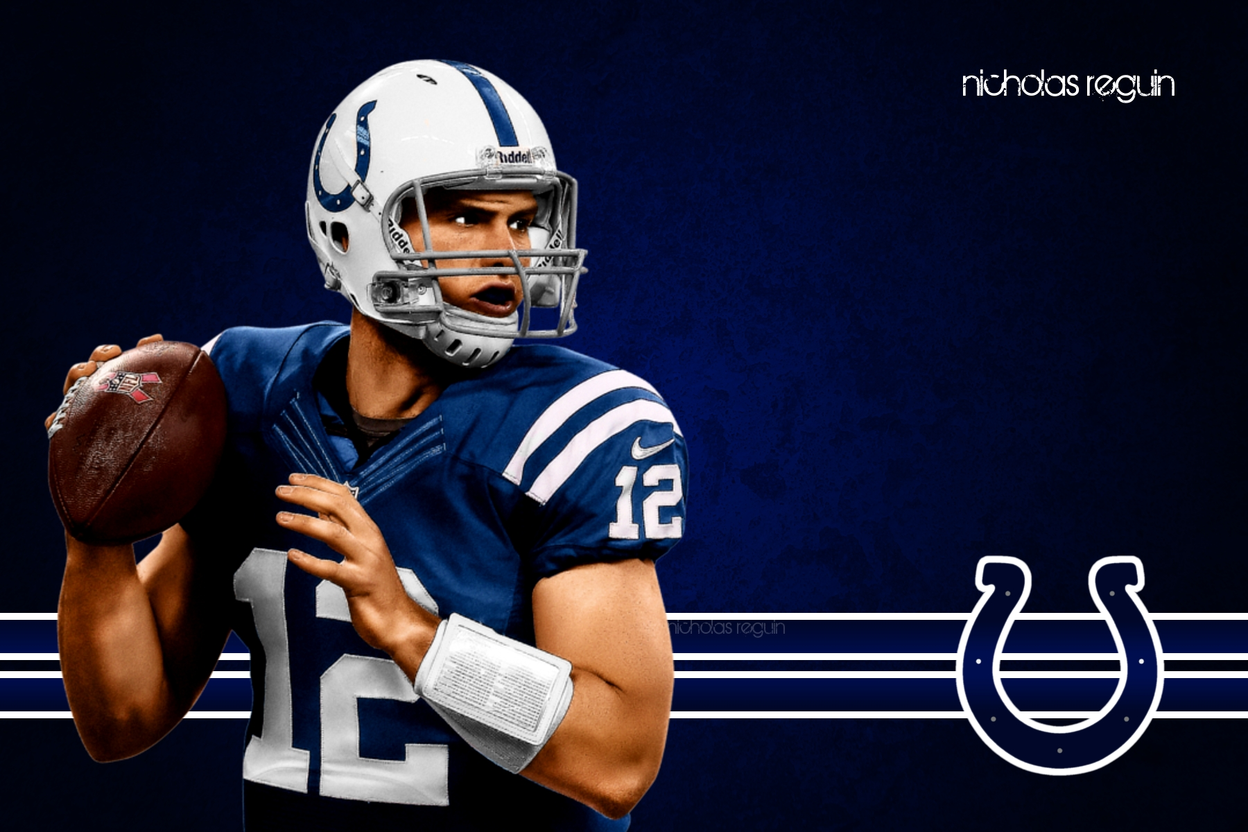 Andrew Luck Indianapolis Colts Computer Background by NicholasReguin 1800x1200