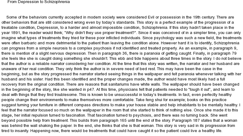 Yellow wallpaper literary essay Chris Ackerman 800x448
