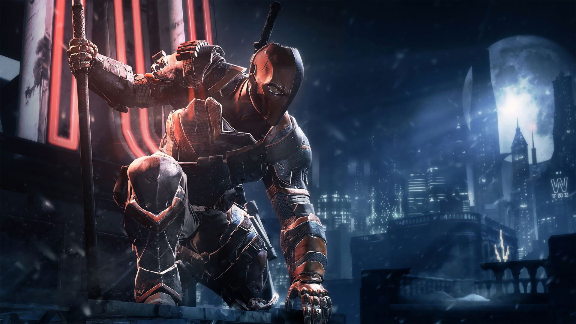 Deathstroke Batman Arkham Origins HD Games Wallpapers for Mobile and 1920x1080
