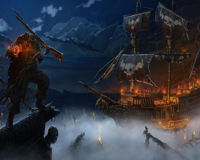 ghost pirate ship wallpaper wallpapersafari