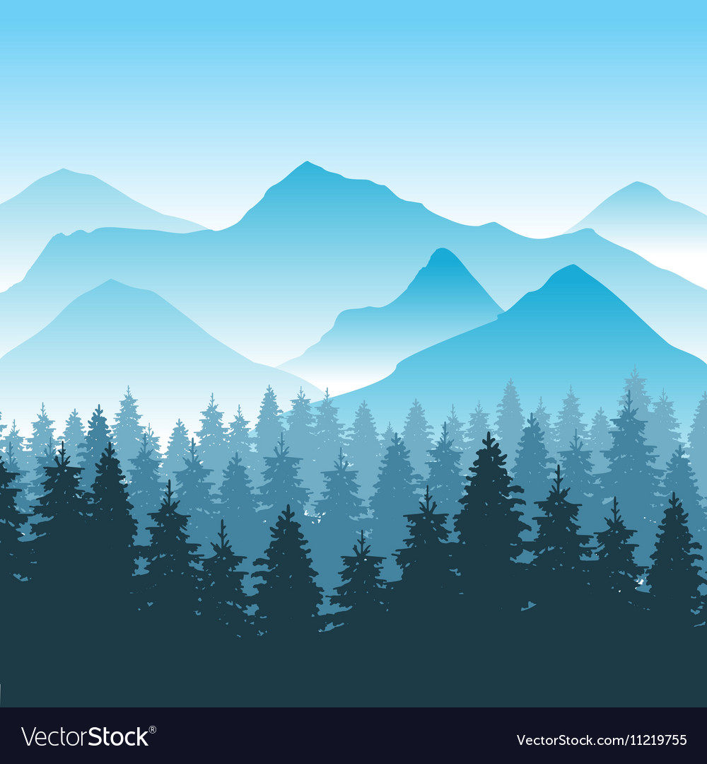Abstract hiking adventure background with Vector Image 1000x1080
