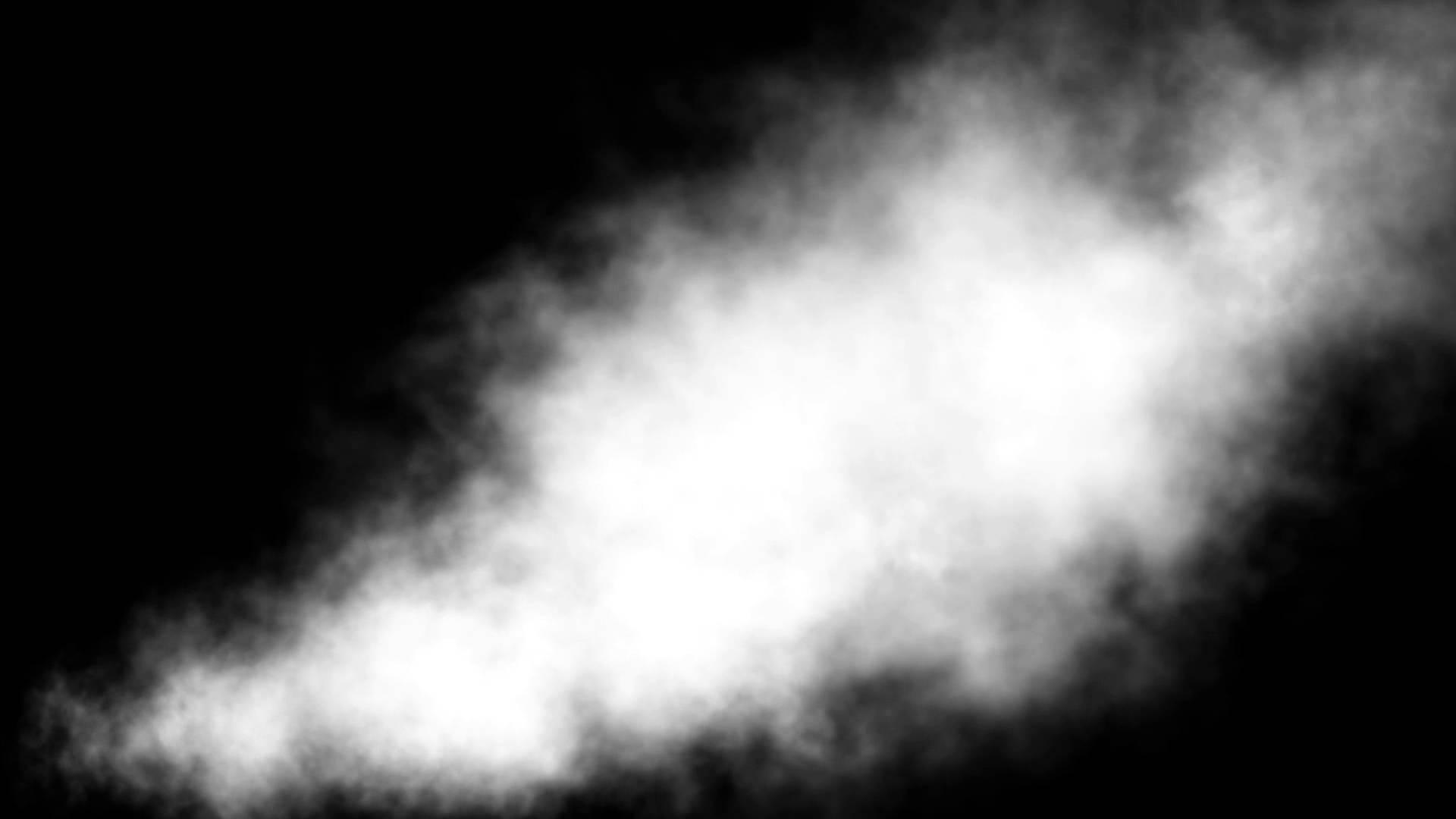 Big White Smoke Wind 2 Black Background ANIMATION FREE FOOTAGE HD 1920x1080
