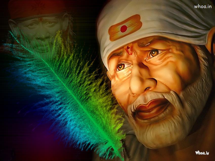 Sai Baba Face HD Wallpaper 850x637