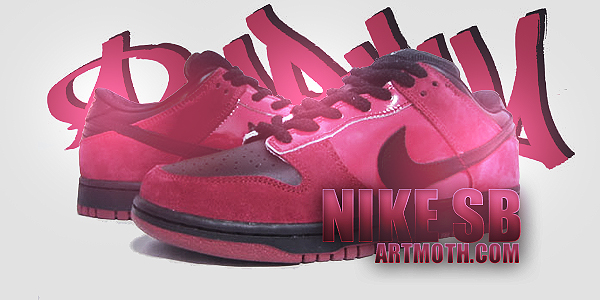 Pink Nike SB Dunks PSP Backgrounds 600x300
