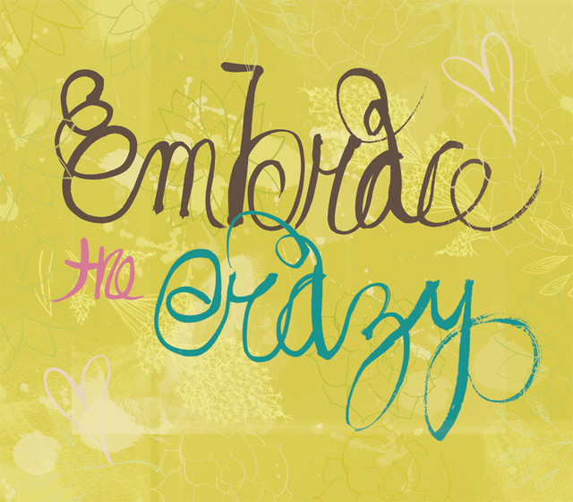 Embrace the Crazy Wall Art   Contemporary   Wallpaper   by Murals Your 640x560
