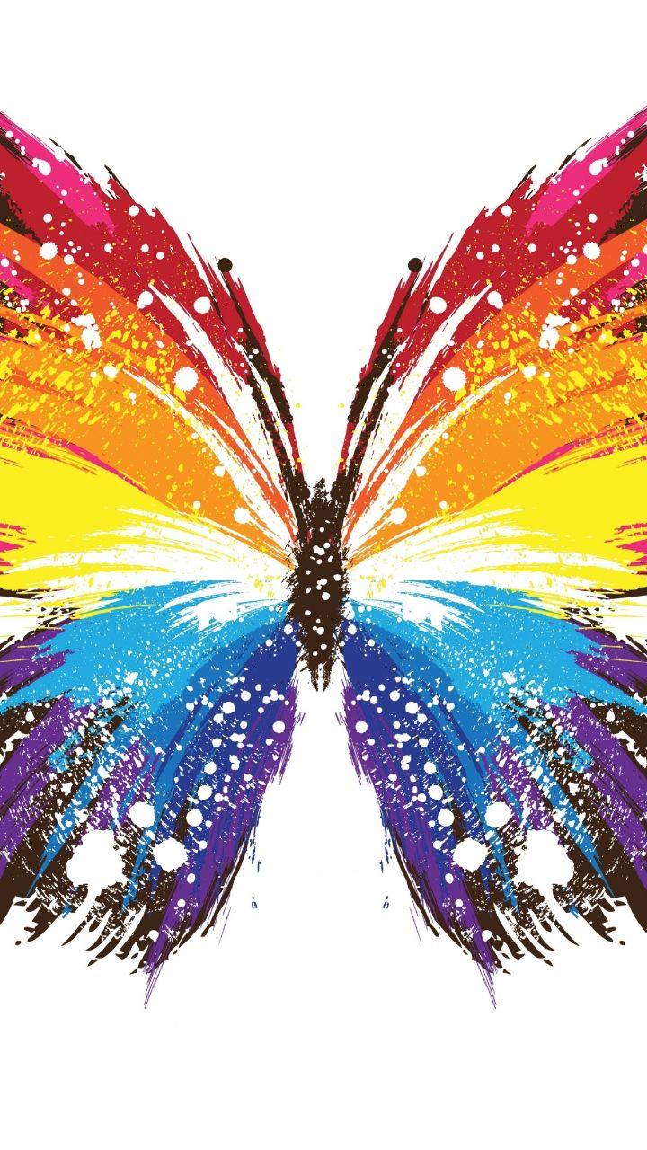 Butterfly   Abstract art   Colorful Colourful Life   Group Board 720x1280