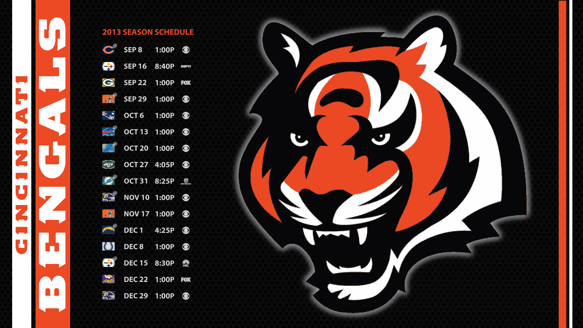 Desktop Wallpaper Cincinnati Bengals 1920x1080