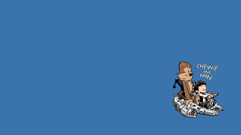 star wars minimalistic calvin and hobbes 1920x1080 wallpaper Video 800x450
