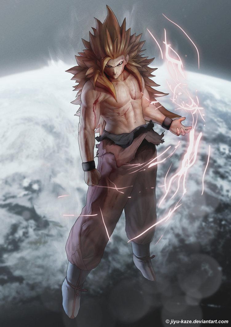 Bleeding God ssjg Goku by Jiyu Kaze 751x1062