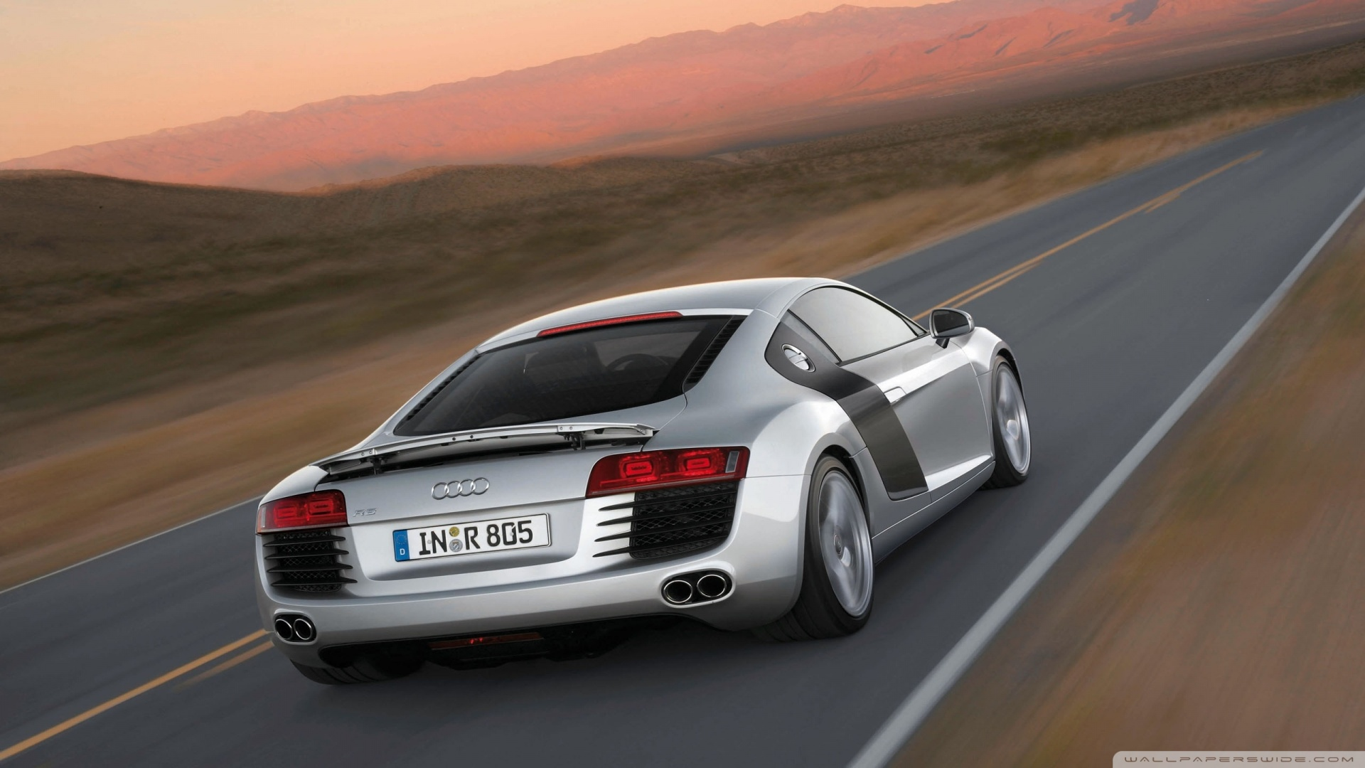 Audi R8 V10 Speed Wallpaper 1920x1080 Audi R8 V10 Speed 1920x1080