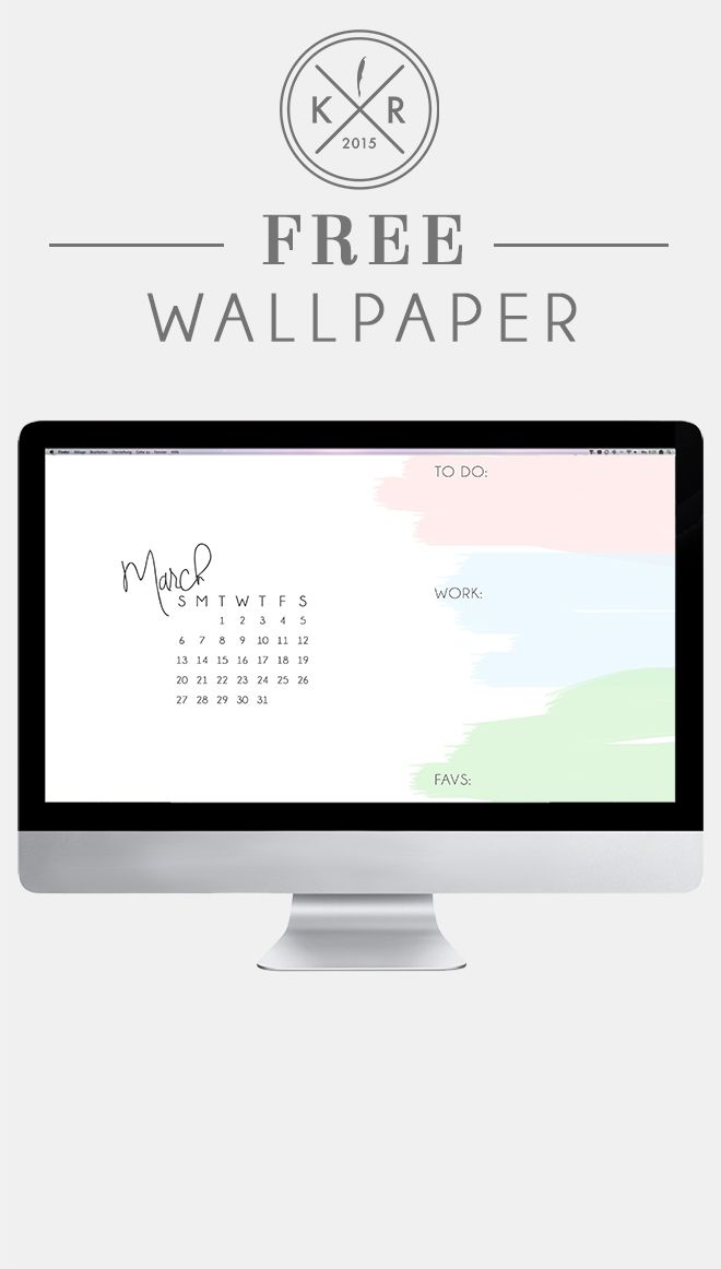 White and pink blue and green watercolor calendar organizational 660x1162