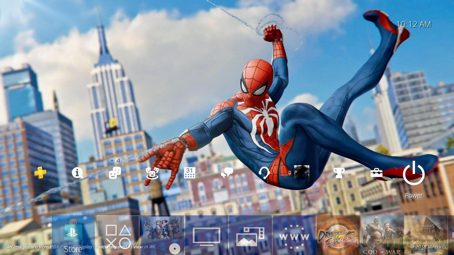 My new PS4 wallpaper SpidermanPS4 1920x1080