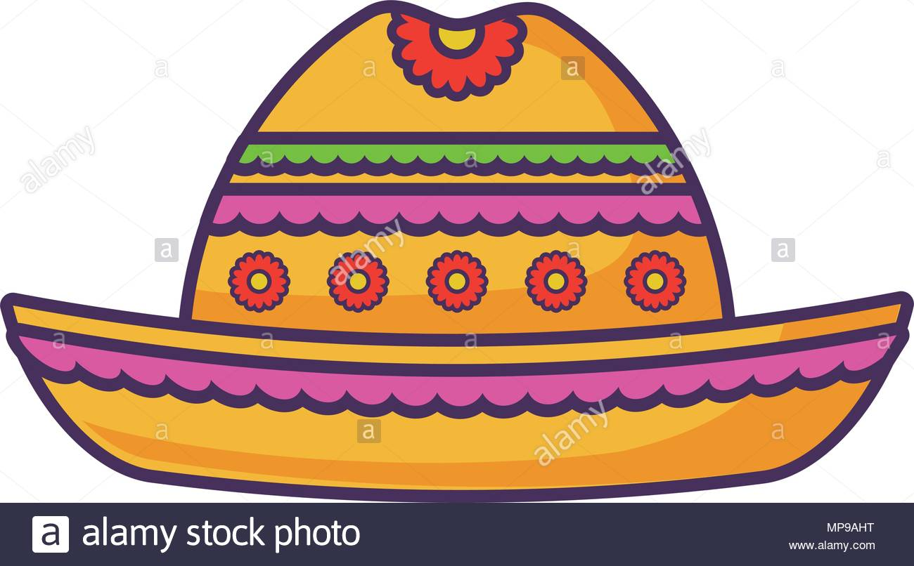 mexican hat icon over white background vector illustration Stock 1300x806