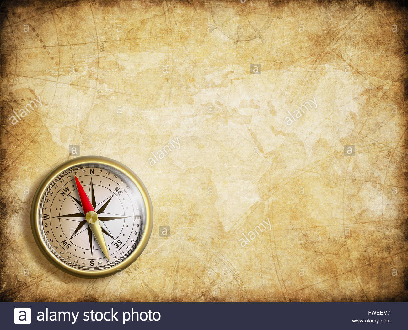 vintage map background with compass Stock Photo 101737111   Alamy 1300x1051