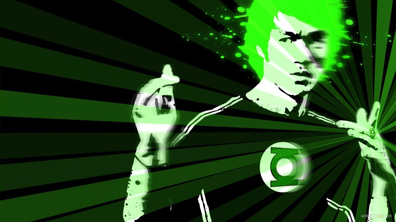 Download Bruce Lee In Green Light HD Wallpaper Wallpaper 1366x768