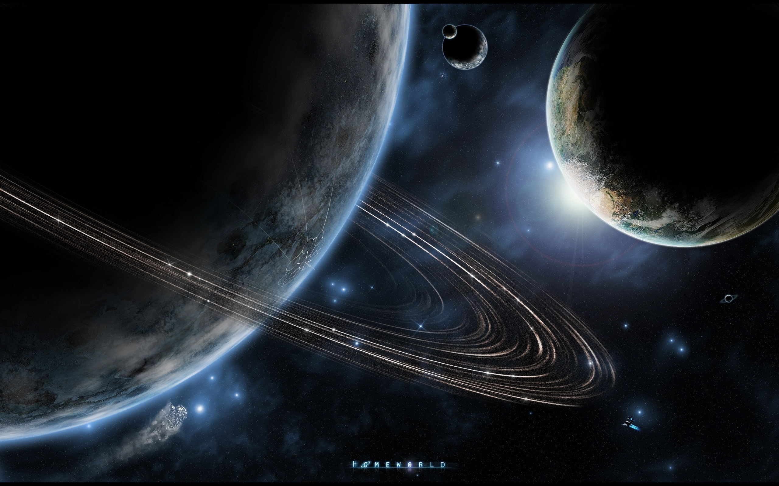 Outer space avatar stars planets HD Wallpapers 2560x1600
